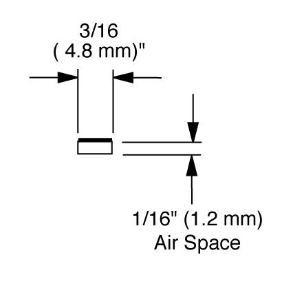 EconoSpace, Art and Glass Separator, 1/16'' airspace, 100 ft bundle - Clear by EconoSpace