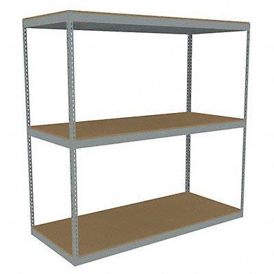 (Tennsco - ZLE7-8430S-3D - 84 x 30 x 84 Steel Boltless Shelving Starter Unit, Gray; Number of Shelves: 3)