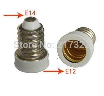 Halica 100PCS,E14 TO E12 adapter Conversion socket material fireproof material E14 TO E12 socket adapter Lamp holder