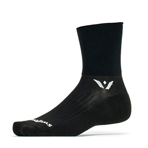 Swiftwick ASPIRE FOUR Trail Running, Cycling Crew Socks, Firm Compression Fit