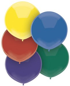 17'' Royal Rich Assortment Outdoor Latex Balloons - Pack of 5