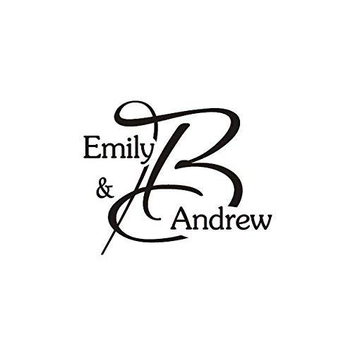 - Wedding Monogram Stamp, Custom Rubber Stamp for DIY, Wedding Thank You Favor Tags and Notes Stamp, Personalized, 2
