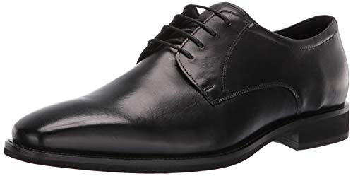 ECCO Men's Calcan Plain Toe Tie Oxford, Black, 40 M EU (6-6.5 US) (Oxford Tie Toe)
