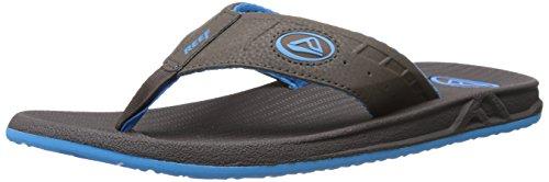 Reef Men's Phantom Speed Logo Flip Flop, Demitasse/Malibu Blue, 11 M US