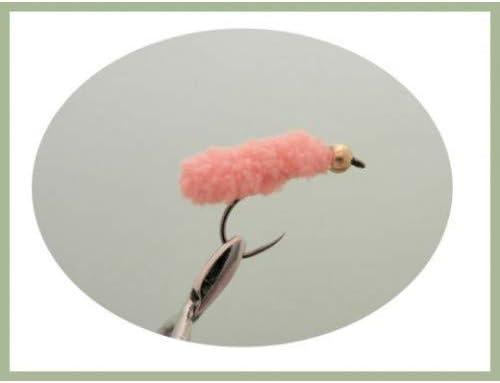 Gr/ö/ße 8 Pink Angelfliegen 4 St/ück Wotsits ohne Widerhaken Troutflies UK Lures Forellenfliegen