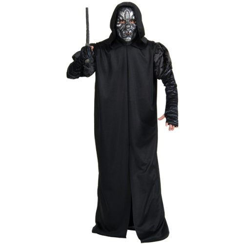 Rubie's Costume Co Men's Harry Potter Deathly Hollows Death Eater Adult Costume, Black, One (Death Eater Halloween Costumes)