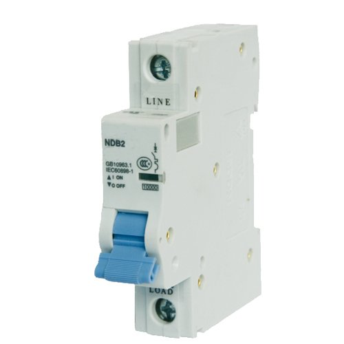 Mount Single Circuit - ASI NDB2-63C20-1 DIN Rail Mount Circuit Breaker, UL 1077 Supplemental Protection, 20 amp, 1 Pole, 240V, General Purpose Trip Curve C