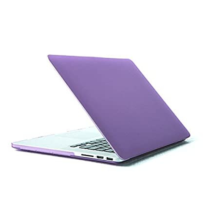eDealMax Caso protectora de plástico Duro de la cubierta púrpura Para Apple MacBook Pro Retina Display