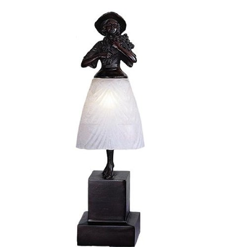 Meyda Tiffany 24116 Silhouette Lady with Bouquet Accent Lamp, 16'' H