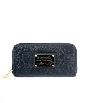 63d2f2242ea6c Image Unavailable. Image not available for. Color: Loungefly Hello Kitty  Black Embossed Face Wallet