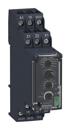 Schneider RE22R2MYMR Multi-function Timing Relay - 0.05s…300h - 24…240V AC/DC - 2C/O