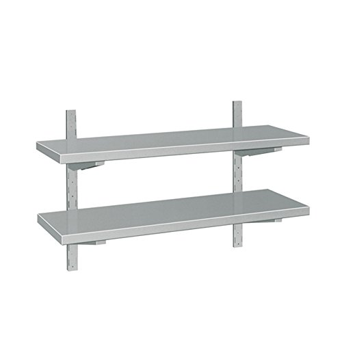 EQ Heavy Duty Commercial Kitchen Silver Wall Hanging Storage