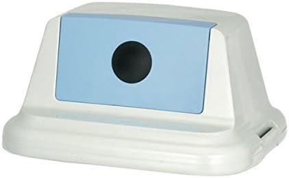 (まとめ) 積水テクノ成型 エコダスター フタ 90L ●1穴/ブルー ビンカン NDF91MB 1個 【×2セット】 ds-1572804