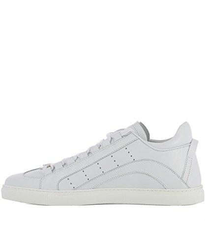 SNM0006065000011062 Herren Weiss DSQUARED2 Leder Sneakers BAngfwwHq