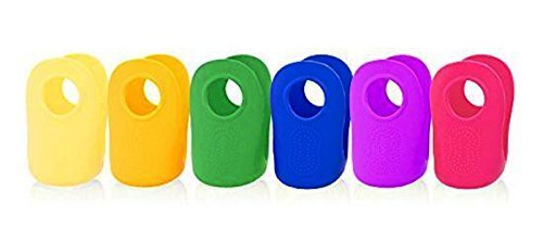 Classic Cozy Silicone Cover for 4 oz Glass Baby Bottle (6 pack) (Bottle Gripper Feeding)