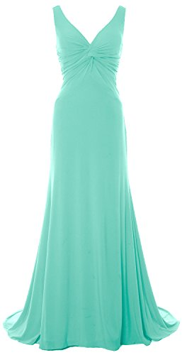 Evening Minze Women Mermaid Prom 2018 Dress Neck Long Jersey MACloth Gown Back V Cowl OdwXCOq