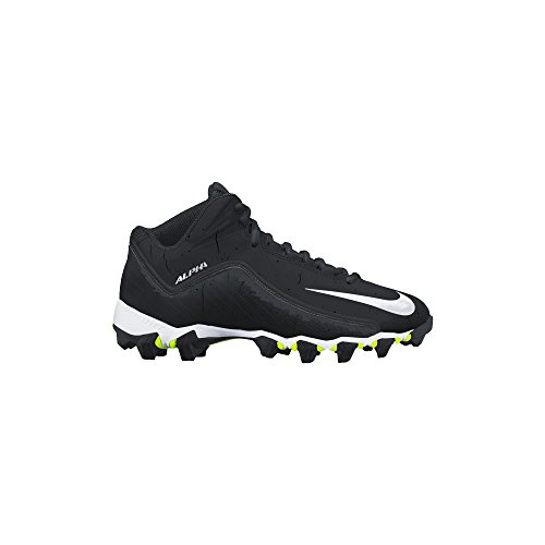 Nike Men's Alpha Shark 2 Three-Quarter Football Cleat Black/Anthracite/White Size 11 M US