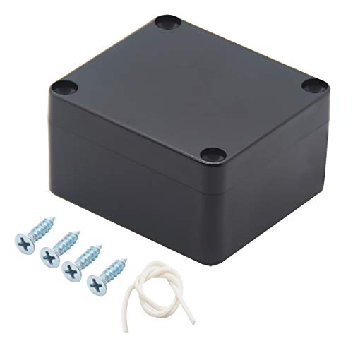 Zulkit Waterproof Plastic Project Box ABS IP65 Electronic Junction box Enclosure Black 2.48 x 2.28 x 1.38 inch (63 x 58 x 35mm)]()