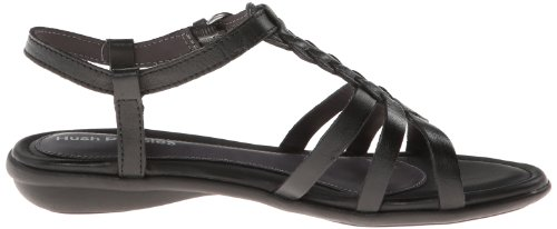 Hush Puppies Nishi T-correa de la sandalia de vestir Black Leather
