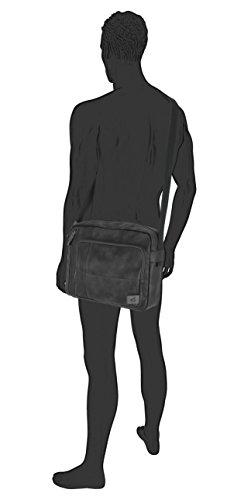 40 active bag; 251 Black Laos Black cm Messenger Bag Schwarz camel Schwarz dqO6Yd