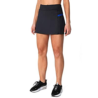 POSHDIVAH Women's Athletic Skirts with Built-in Shorts Skorts for Tennis Golf Running Workout and Casual at Women's Clothing store