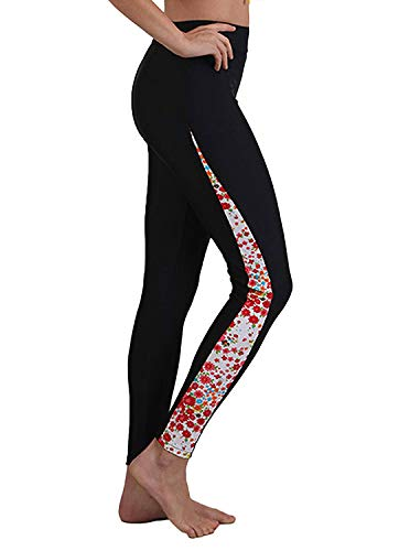 Little Beauty Women's Swim Capris UV Protective Water Outdoor Sport Leggings (XL, Floral)