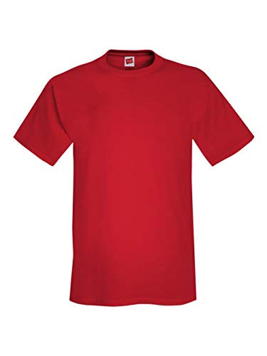 Hanes Men's TAGLESS ComfortSoft Crewneck T-Shirt 5280 Athletic Red -