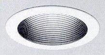 (Capri Lighting R401W Round Stepped Ceramic Metal Baffle Trim, 4 IN ID x 4-3/4 IN OD, White)
