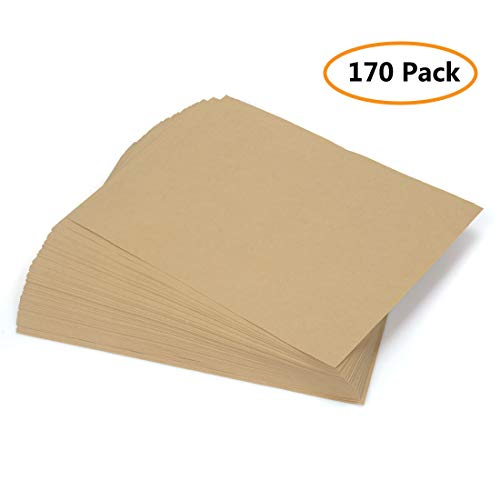 Brown Kraft Paper, 170 Pcs Kraft Paper Sheet Stationery Paper for Art, Crafts and Office Use, 8.5 X11 ()