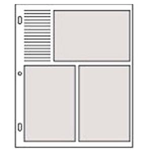 Genuine Graphic ImageTM slip-in 4x6 pocket refills pages for standard 3-ring albums - 4x6
