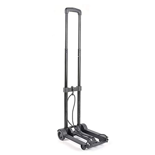 - Zehaer Portable Trolley, Ultra-Lightweight Folding Utility Hand Cart, Retractable Iron Pull Rod Hand Compact Luggage Cart for Travel
