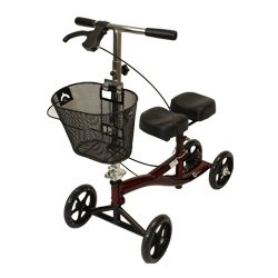 Rosco-Medical Knee Scooter Mahogany Red - Each 1