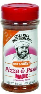 Chef Paul Magic Seasoning Blends Hot & Sweet Pizza & Pasta Magic, 3.6 oz Italian Cheese Italian Pizza
