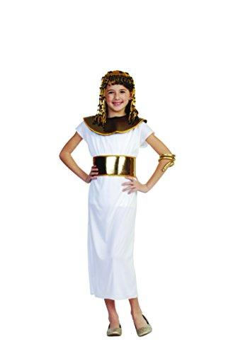Cleopatra Child Costume, White, Medium Size. (Egyptian Costumes For Children)