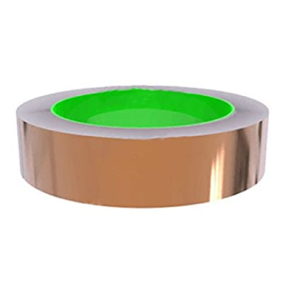 TOOGOO(R) Copper Foil Tape with Conductive Adhesive (25mm X 11meters) - Slug Repellent, EMI Shielding, Stained Glass, Paper Circuits, Electrical Repairs, Crafts