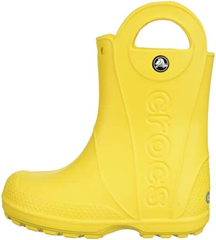Crocs Kids' Handle It Rain Boots | Waterproof Slip On Shoes | Kids' Rain Boots