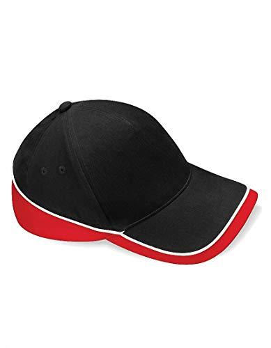 Beechfield - Gorra de béisbol - para hombre Black/Classic Red/White