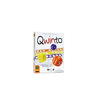Pandasaurus Games Qwinto, Fast-Paced Dice Game, Everyone Plays at The Same Time, Fill Rows on Scoresheets with Numbers as Quickly & Highly as Possible to Score Points, 1-5 Players, Age 8 & Up, 20 min
