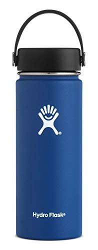Hydro Flask W18TS407 Mouth 18 oz. Wide Water Bottle, 532 ml, Cobalt (16 Oz Hydro Flask)