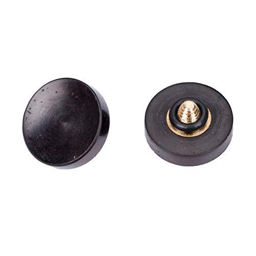 VKO Wood Soft Shutter Release Button Compatible for Fujifilm X-T3 X100F X-T20 X-E3 X-PRO2 X30 X100T X100S PEN-F M7 M8 M9 M-E Camera 12mm Concave Surface Black 1 PCS (Wood Grain Random )