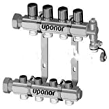 Uponor Wirsbo A2660601 TruFLOW Jr. Manifold Assembly with B & I Valves - Radiant Heating & Cooling, 6-Loop