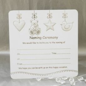 Luxury Naming Ceremony Invitations   Pack Of 10