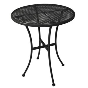 round outdoor metal table. Commercial Black Steel Patterned Round Bistro Table 600mm - Cafe Restaurant Hotel Bar Pub Outdoor Metal