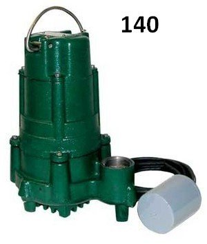 Zoeller BN140 Flow Mate 115 Volt Cast Nonauto Submersible Pump wVariable Level Float Switch by Zoeller