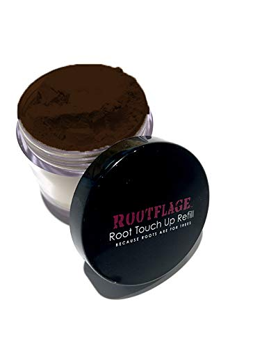 Root Touch Up Hair Powder - Temporary Hair Color, Root Concealer, Thinning Hair Powder and Concealer Refill Jar with Detail Brush Included, .31 oz (Dark Brown) ...