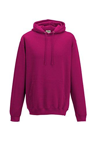 Awdis CollegeHoodie L,Rosa - Hot Pink