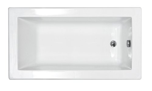 Sea Spa Tubs S3272VN Tubs Venetian 32 by 72 by 23-Inch Rectangular Soaking Bathtub, White