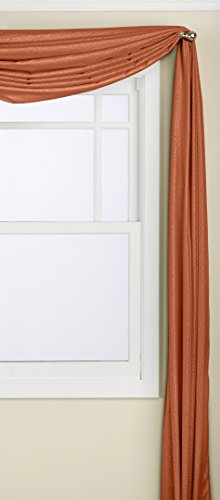 LORRAINE HOME FASHIONS Reverie Scarf, 60 by 216-Inch, Spice (Spice Curtains)