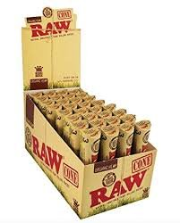 Raw Cone 1.25 Size Unrefined Rolling Paper 32-6 Cone Display