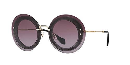 - MIU MIU REVEAL Round Sunglasses MU10RS Lilac Black 10R